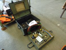 SAFFIRE GAS WELDING AND CUTTING KIT IN TRANSPORT PELLI CASE