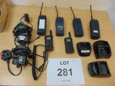 4X MAXON 2X MOTOTROLA RADIOS CHARGERS ETC AS SHOWN