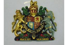 HAND PAINTED ROYAL CREST 16cm X 16 cm