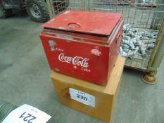VINTAGE COCA COLA GALVANISED COOL BOX WITH OPENER