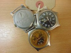 3X CWC W10 WATCHES SPARES OR REPAIR