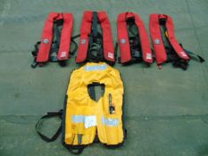 5 x Crewfit 150N Self Inflating Crewsaver Life Jackets