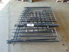 1 PAIR OF 6 FT WROUGHT IRON GATES (12 FT OPENING) + 3 FT SIDE GATE