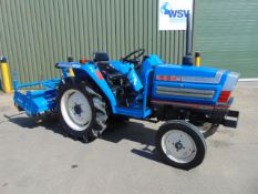 Iseki 230 Compact Tractor c/w Rotavator ONLY 527 HOURS!
