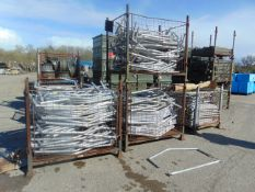 UNUSED ALUMINIUM TENT FRAME IN 4 PALLETS APPROX. 500 +/- PIECES