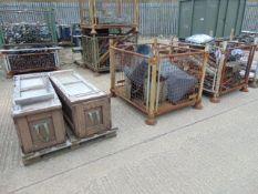 3 x Pallets inc Storage Boxes, AFV Spares inc Seats, Gun Mounts, Track Guards, Lights etc