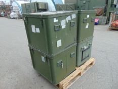 4 x Large Aluminium Storage Boxes 85 x 73 x 65 cms as shown