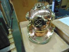 BRASS and COPPER US NAVY MKIV DIVING HELMET REPRO