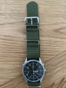 SEIKO GEN 2 R.A.F. ISSUE PILOTS CHRONO NATO MARKED DATED 1995