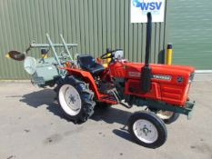 Yanmar YM1502 Compact Tractor c/w Rotavator ONLY 600 HOURS!