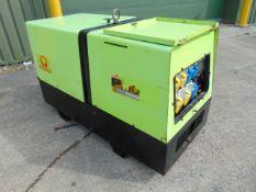 Pramac P11000 Single Phase 10.3 KVA Yanmar Diesel Silenced Generator 2339 HRS ONLY