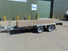 INDESPENSION 3500 KGS GALVANISED CAR/ PLANT TRAILER 12ft 6 ins X 6ft 6 ins 2 axle