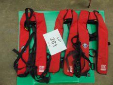 3X CREW SAVER 150N SELF INFLATING LIFE JACKETS