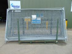 15 x Heras Style Fencing Panels 3.5m x 2m galvanized c/w with feet
