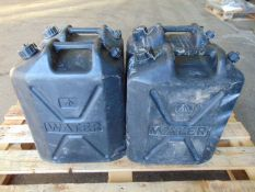 4 x Standard Nato 5 gall Water Jerry Cans
