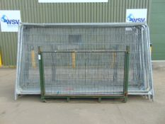 18 x Heras Style Fencing Panels 3.5m x 2m galvanized c/w with feet