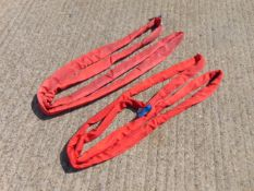 Qty 2 x SpanSet / Matlock 2m 5 Ton Recovery Round Slings