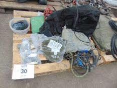 SAFETY EQUIPMENT, AIR LINES, TOOLS, CARGO NETS, ETC