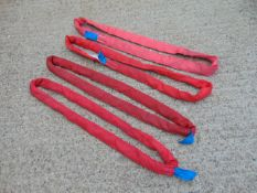 Qty 4 x SpanSet 1m 5 Ton Recovery Round Slings