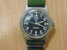 VERY NICE CWC W10 BRITISH ARMY SERVICE WATCH NATO MARKED DATED 1997