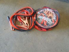 2 Pairs of H/D Jump Leads NEW UNUSED