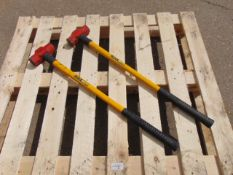 2 x Stower 6lb Sledge Hammers