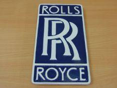 CAST ALUMINIUM ROLLS ROYCE ADVERTISING SIGN