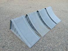 4 x Heavy Duty Steel Wheel Chocks