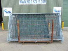 17 x Heras Style Fencing Panels 3.5m x 2m galvanized c/w with feet
