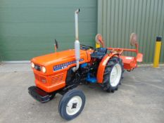 Hinomoto Best E15 Compact Tractor c/w Rotavator ONLY 655 HOURS!