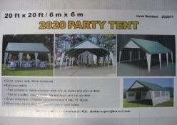 Unissued 20' x 20' Party Tent / Gazebo
