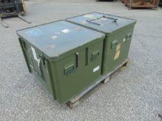 2 x Large Aluminium Storage Boxes 85 x 73 x 65 cms as shown
