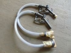 2 x Unissued Diesel Gravity Refuelling Hose Kits c/w Nozzle and Valve as Shown