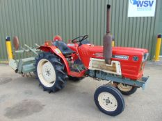 Yanmar YM1810 Compact Tractor c/w Rotavator ONLY 290 HOURS!