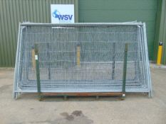 14 x Heras Style Fencing Panels 3.5m x 2m galvanized c/w with feet