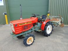 Yanmar YM1510D 4WD Compact Tractor c/w Rotavator ONLY 873 HOURS!