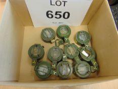 10X STANLEY BRITISH ARMY PRISMATIC COMPASSES