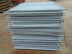 41 x Heras Style Hoarding / Security Fencing Panels 2.15m x 2m