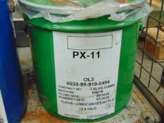1 x Unissued 12.5Kg Drum of PX-11 High Temperature Corrosion Preventative Grease