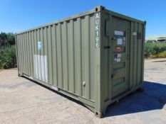 DEMOUNTABLE FRONT LINE ABLUTION UNIT IN 20FT CONTAINER WITH HOOK LOADER