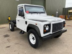 NEW UNUSED EXPORT SPECIFICATION LAND ROVER DEFENDER ARMOURED 130 CHASSIS CAB