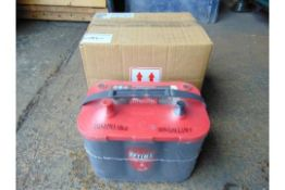 2 x Unissued RTS 4.2 Optima Red Top 12v Starting Batteries – (8002-250) RTS4.2 AGM