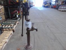 Genuine Antique Cast Iron Water Pump as shown