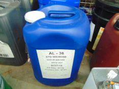 1 x Unissued 25L Drum of AL-36 Antifreeze