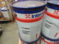1 x Unissued 20L International Intersmooth 7460HS Anti Fouling Paint Red