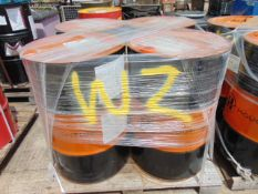 4 x Unissued 205L Drums of Houghton Safe 200X Fire Resistant Hydraulic Fluid