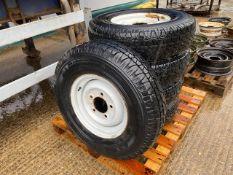 5 x Michelin Latitude 7.50R16 Tyres C/W Land Rover Rims