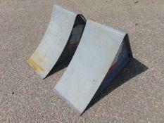 2 x Heavy Duty Steel Wheel Chocks