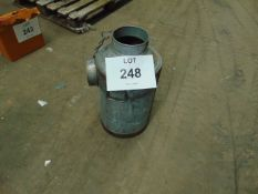 Galvanised Large Milk Churn as shown c/w Lid and Chain