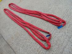 Qty 2 x SpanSet 5m 5 Ton Recovery Round Slings